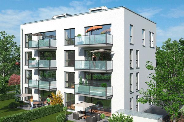 Mehrgeschossiges Wohnobjekt mit Balkonen
